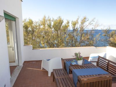 Photo for Villa on the sea, in an enchanted place in Pomonte where you can see the most beautiful sunsets of t