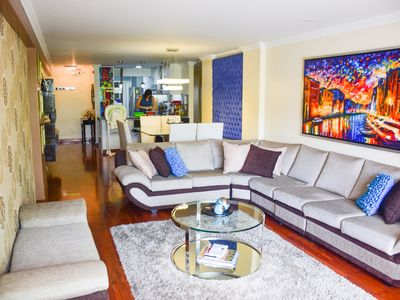 Photo for Beautiful apartment in the heart of Miraflores  (3 blocks away from the malecon)