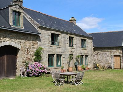 Photo for Old farmhouse near Locronan, ideal family,