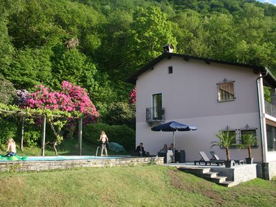 Photo for Ticino villa with large pool and stunning lake view - on 8,800m² plot