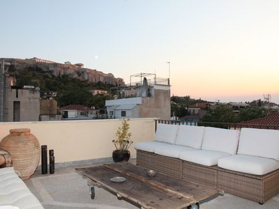 Photo for Two storey penthouse in Plaka with Acropolis views