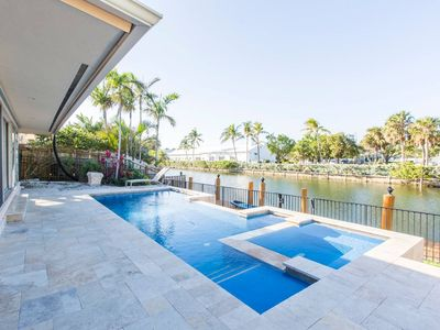 Photo for Gone Coastal! - Waterfront Villa With Pool!! Walk to the Beach!