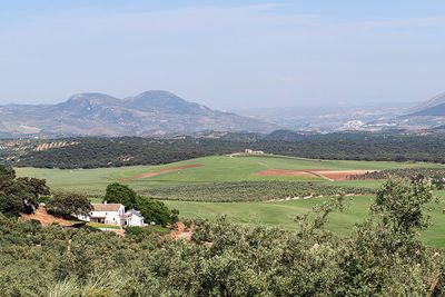 Overview of Finca with extended valley view