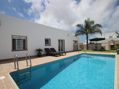 Photo for Child-safe private pool, perfect family holiday, with free Wi-Fi, air conditioning - Casa Chaparro -
