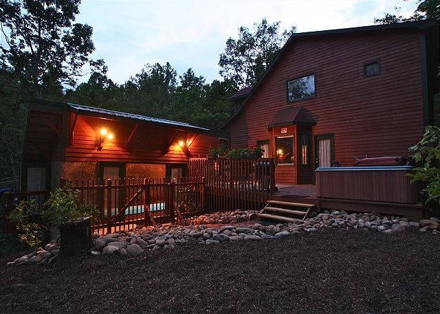 Cabin For 2 W Indoor Swimming Pool And Waterfall All Private Gatlinburg Tennessee