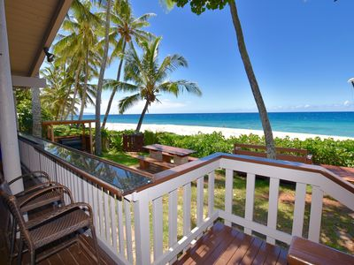 Photo for NEW LISTING Beachfront two bedroom house that sleeps up to six guests