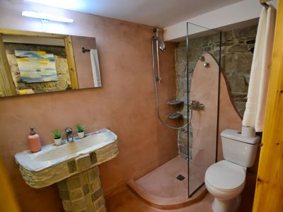 Photo for A private and unique studio M in Enalia with stunning garden and sea view