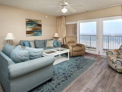 Photo for Bright, Beachfront Condo w/ Shared Pool, Quick Drive To Dining