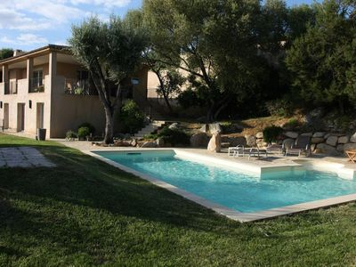 Photo for Air-conditioned villa with large heated pool 800m from the beach in St. CYPRIEN