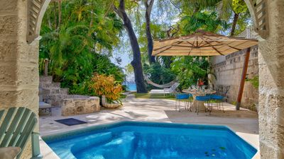 Photo for A secluded townhouse located on a beautiful Barbados beach - Cook included