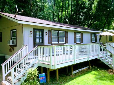 Photo for Huge Deck Overlooking Yard & Private River Access