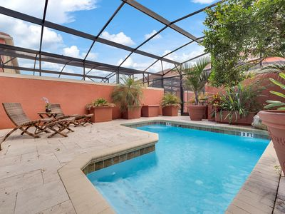 Photo for Designer 4/3 townhome in Paradise Palms with outdoor oasis and next to clubhouse