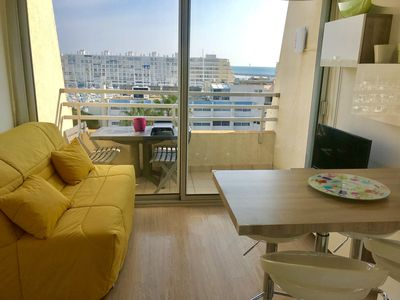 Photo for FURNISHED STUDIO LAST FLOOR SEA VIEW AND PORT