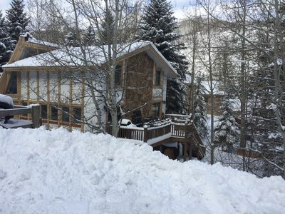 Photo for West Vail House 3bd/3.5ba, 2300 SF, 300 yds from bus stop / free shuttle to Vail