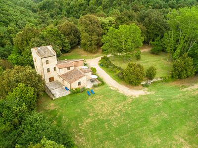 Photo for Apartment in old water mill on a large estate with pool and restaurant