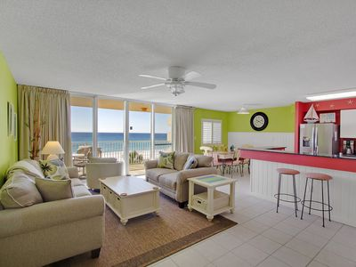 """Photo for """"Beachy Keen"""" - 2 King Beds, Beachfront, Direct Gulf View, Free Beach Service"""