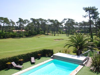 Photo for On the Golf of Chiberta, apartment 4 pers ., bright and quiet. Garage. Swimming