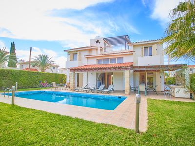 Photo for 3 Bed Villa just 5 minutes walk to the beach - Sea Views - Private Swimming Pool