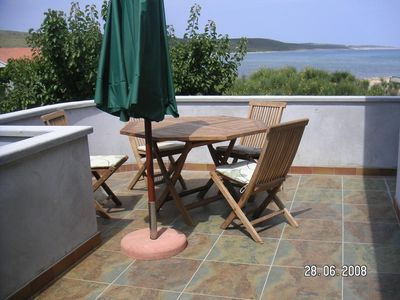 Photo for Two bedroom apartment with terrace and sea view Ljubač, Zadar (A-14593-c)