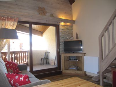Photo for Apartment ALPE D'HUEZ duplex 4/6 pers. center resort, ski in / ski out