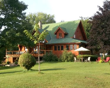Photo for Scribed Log Home On Big Rideau Lake Near Portland with separate lakeside cabin