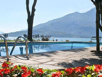 Photo for Holiday apartment Sostra is located right at the lake with pool