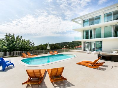Photo for Luxury Five Star Villa near Dubrovnik is perfect place for group vacation