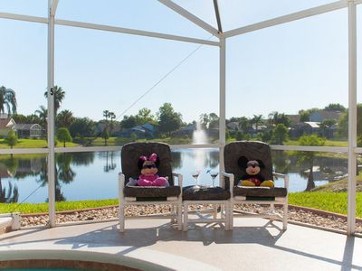 Photo for Stunning Lakeview Pool/Spa-Games Room,Free Wi-Fi, 2 mls to Disney