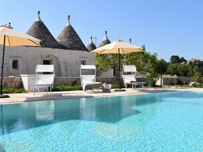 Photo for Charming Trullo Poppy in Apulia, with pool, 3 bedrooms, up to 7 sleeps
