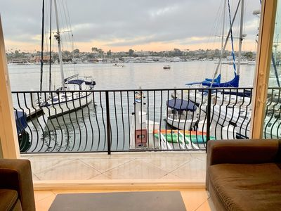 Photo for Right on the Newport harbor and steps from the beach