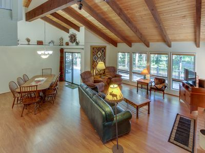 Photo for NEW LISTING! Bright and open golf course home with shared pool & hot tub
