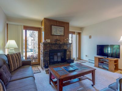 Photo for Family-friendly condo close to skiing w/shared pool, hot tub, sauna, & game room