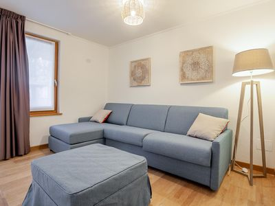Photo for Quintino Sella apartment in Gressoney Saint-Jean with WiFi, private parking, shared garden & lift.