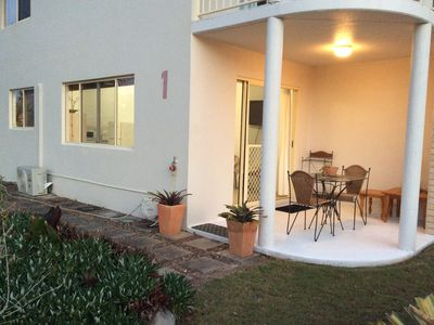 Photo for Ocean View Ground floor Apartment across from pristine beach