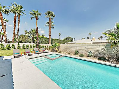 Photo for Chic & Contemporary Palm Springs Hideaway w/ Brand-New Pool & Spa Oasis