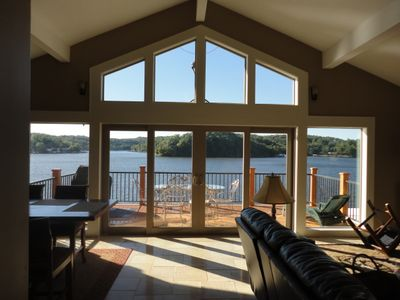 Terrific view from the front entryway. Gives you that special lake feeling!