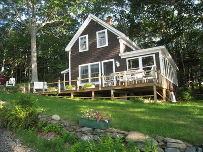 Photo for Charming Woodsy Cottage - Ocean View with Monhegan Island