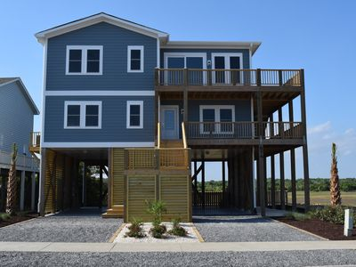 Photo for New 5 Bedroom Home with Pool and Spectacular Marsh and Ocean View