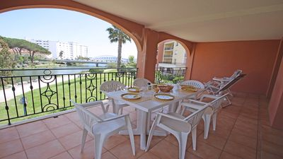 Photo for Apartment T4 - 6 people - Sea view - Air conditioning - WiFi - Swimming pool residence - Sainte Maxime