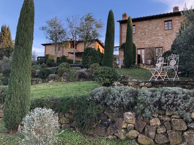 Photo for Beautiful house with great views near San Gimignano in Tuscany with pool , WiFi