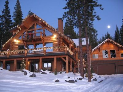 Cabin at Christmas time