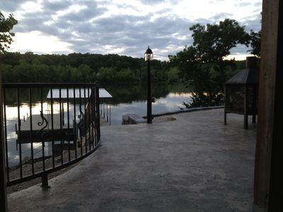 View of the Dock and the Patio Fire Pit!