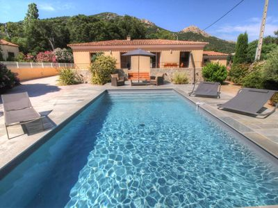 Photo for Luxury villa with heated pool, large terrace and landscaped garden