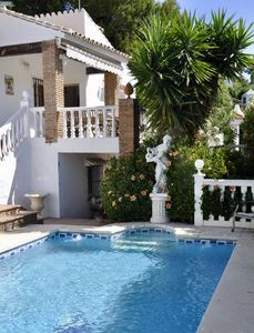 Photo for Fantastic villa with private pool, wifi,  walking distance to beach, seaviews,