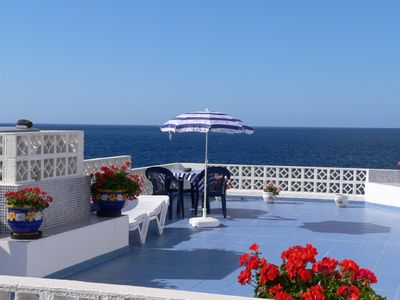 Photo for House directly on the sea with a large, planted rooftop terrace