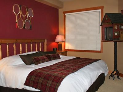 Master Bedroom of a One Bedroom Unit at the Club Intrawest Panorama Resort