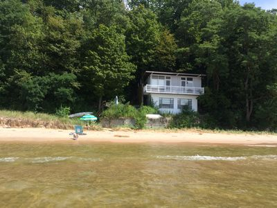 House from the water, summer 2017. The water is higher this year.