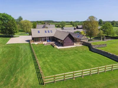 Photo for The Cotswold Manor Court, Exclusive Hot Tub, Games Barn, 70 acres of Parkland