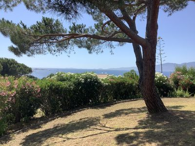 Photo for ground floor of independent villa with sea view at 200m enclosed garden