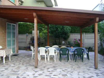 Photo for Independent on 2 levels, residential area 200 meters from the sea